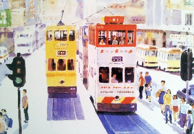 City Life of Hong Kong, trams