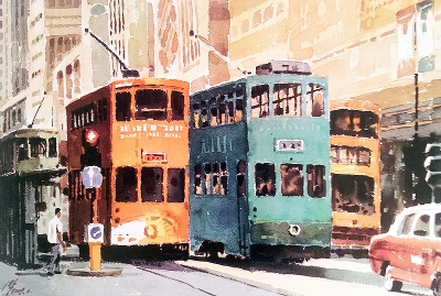 Shen Ping City Life of Hong Kong, Trams