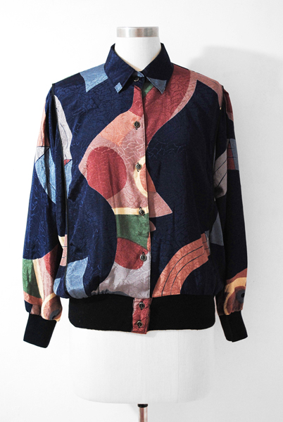 Korean Vintage Blouse, Colourful Blouse Jacket
