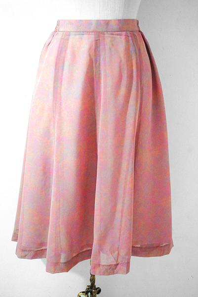 Japan Vintage Skirt, Pink Skirt