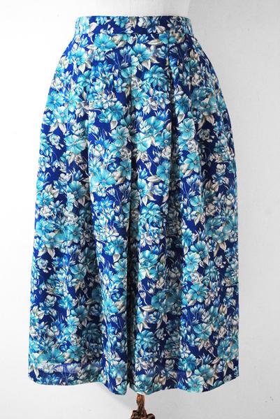 Japan Vintage Skirt, Vintage Floral Skirt, Hipster Skirt