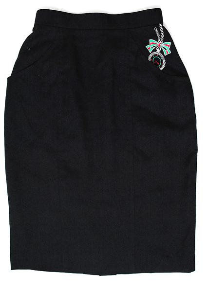 Japan Vintage Skirt, Japanese Vintage Skirt, Pencil Skirt