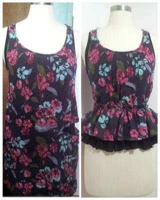 Sewing DIY Floral Peplum top