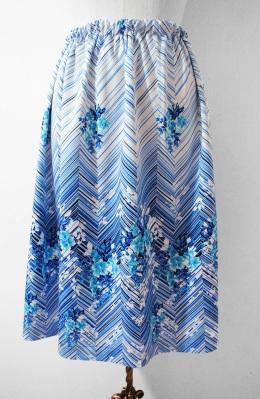 70s Vintage floral skirt